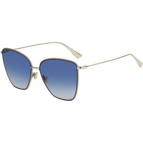 Occhiali da sole, Christian Dior, Crafted in Italy,Occhiali da sole Dior DIOR SOCIETY 1 GOLD / BLUE SHADED 60/15/145 donna - Crafted in Italy Eyewear