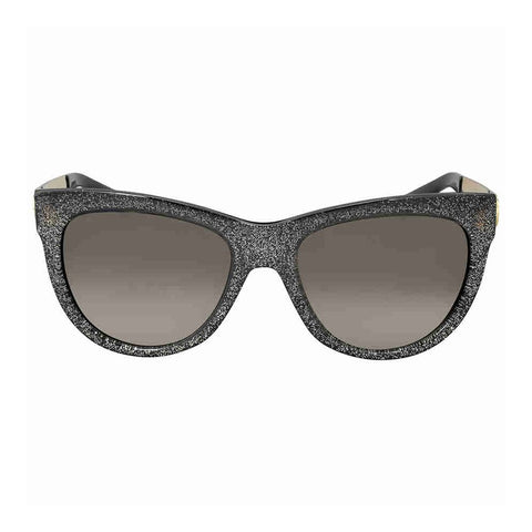 Sunglasses, Gucci, Crafted in Italy,Gucci - GG 3739/N/S, Cat Eye, optyl, women, GLITTER GREY GOLD/BROWN SHADED(VJZ/HA), 55/19/140 - Crafted in Italy Eyewear