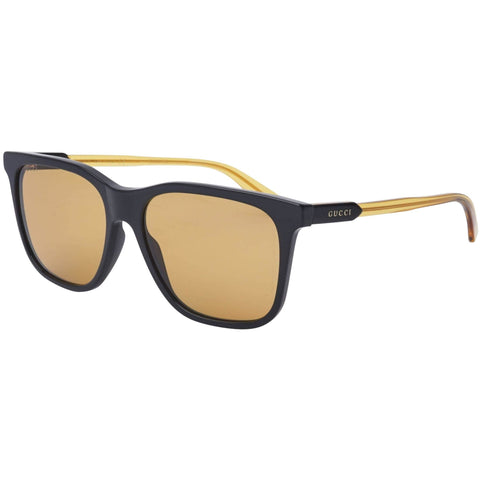 Sunglasses, Gucci, Crafted in Italy,Gucci Unisex Adults' GG0495S-004-57 Sunglasses, Schwarz-Gelbfarben Kristall, 57.0 - Crafted in Italy Eyewear