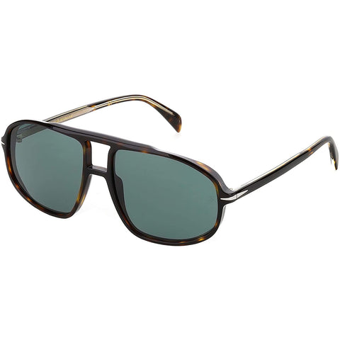 David Beckham DB 1000/S Dark Havana/Green Men's Sunglasses