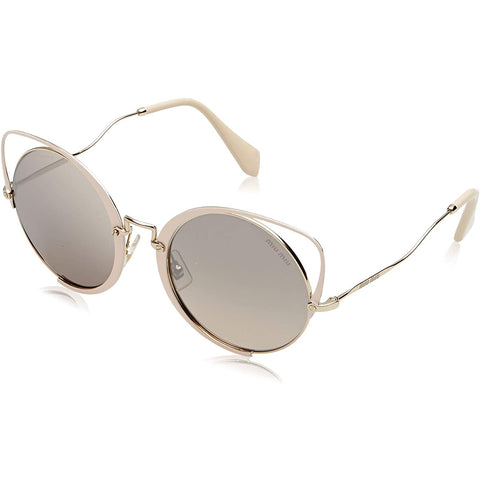 Sunglasses, Miu Miu, Crafted in Italy,Occhiali da sole MIU MIU Scenique Curvy Cateye in glitter pesca oro pallido MU 51TS 4UD085 54 - Crafted in Italy Eyewear