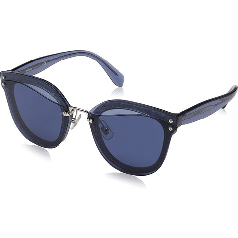 Sunglasses, Miu Miu, Crafted in Italy,Occhiali da sole geometrici MIU MIU Reveal Glitter in Glitter blu trasparente MU 03TS SRM1V1 65 - Crafted in Italy Eyewear