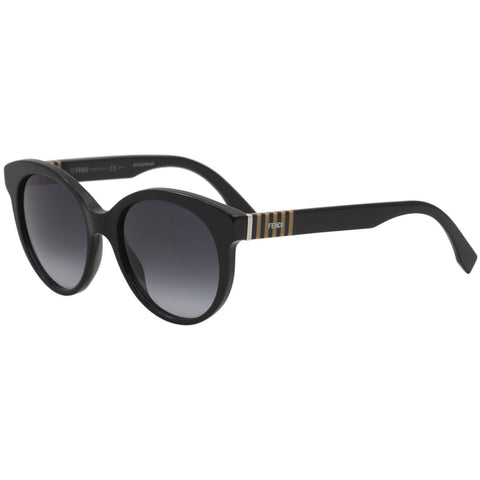 Fendi Ff0013/s 7sy Black/Dark Grey Unisex Sunglasses