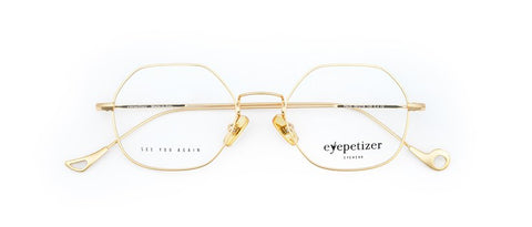 Eyepetizer Paul Gold Unisex Optical Eyewear - C 4