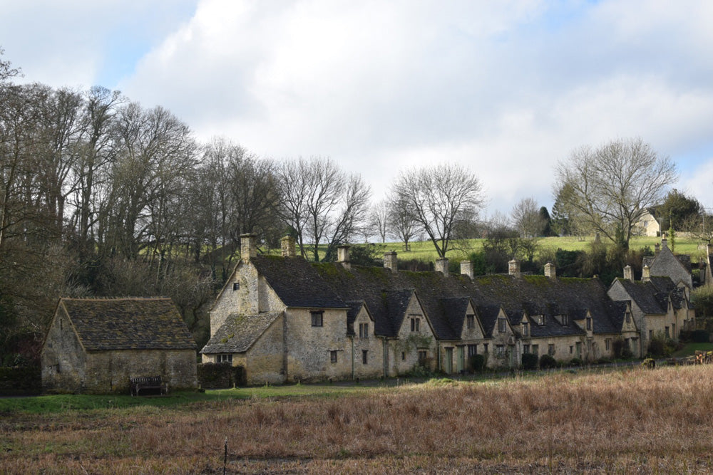 Arlington Row in Bibury. This picturesque row of workers' cottages in the Cotswold village of Bibury is famous the world over.