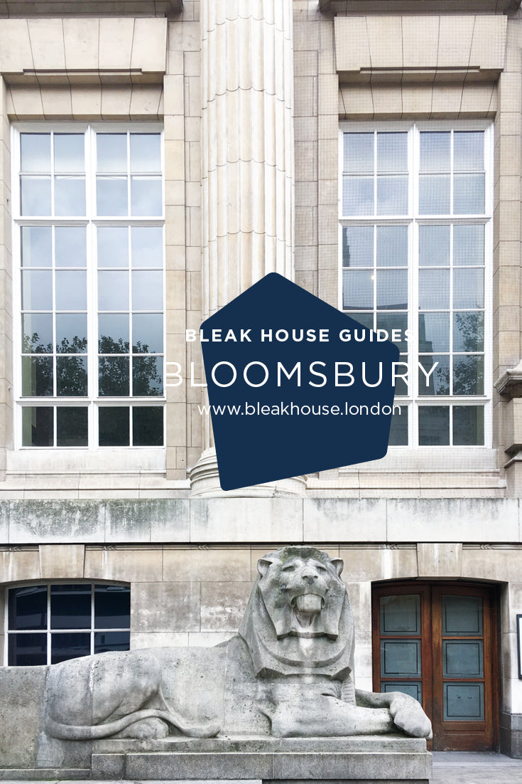 October's Bleak House Guide is walk through Bloomsbury. The walk takes you through some of London's greatest squares with their Georgian terraces and London plane trees in full autumnal swing. There are cute alleys, gorgeous shops and acres of history in this atmospheric walk.