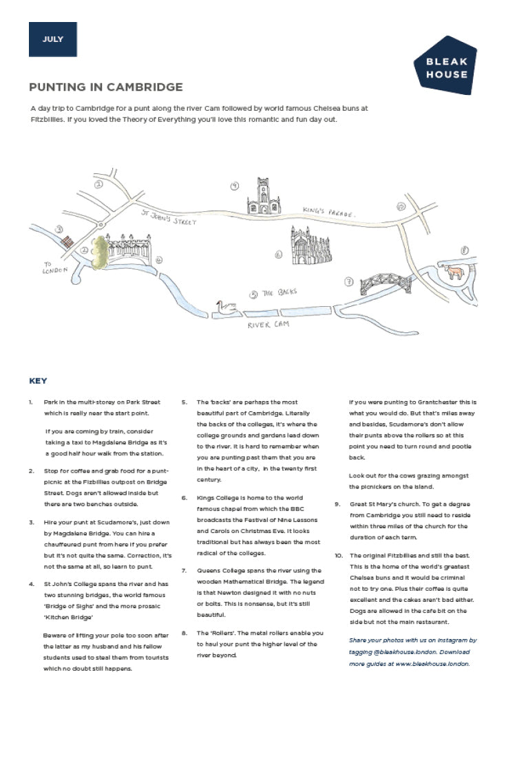 Download our guide to punting in Cambridge.
