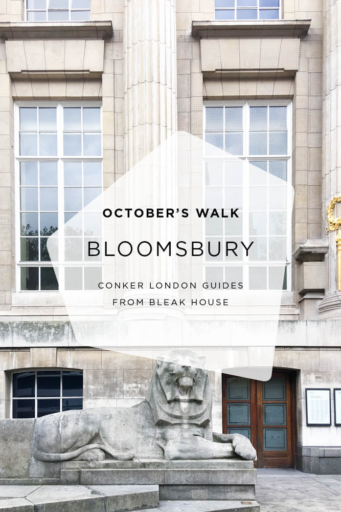An autumnal walk through literary Bloomsbury