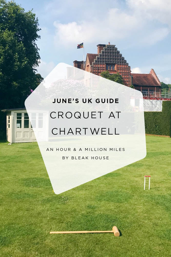 A visit to Chartwell for a game of croquet and a wander around the gardens