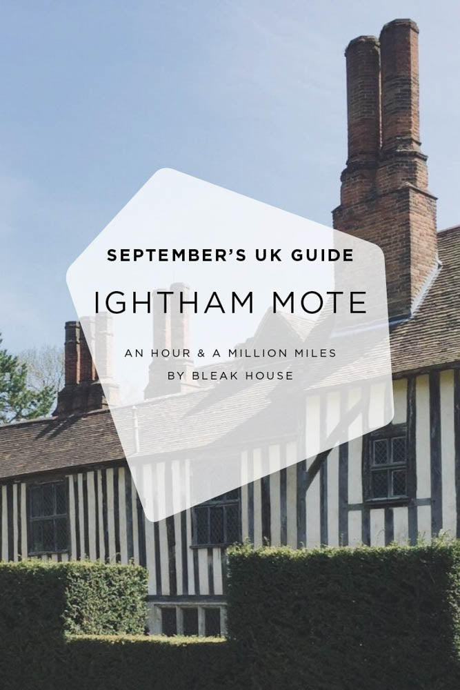Circular walk and pub lunch at Ightham Mote