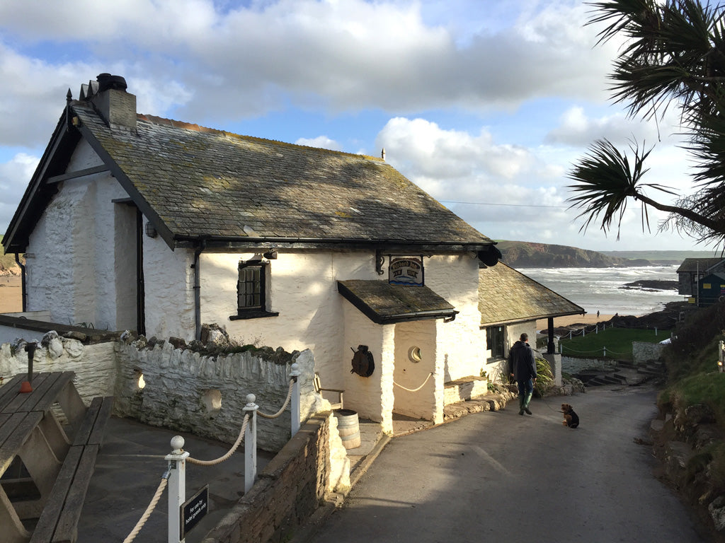 The Pilchard Inn on Burgh Island in South Devon is one of England's cutest pubs. It is set on a tidal island and there are few nicer places to have a drink and some lunch after a blustery beach walk.