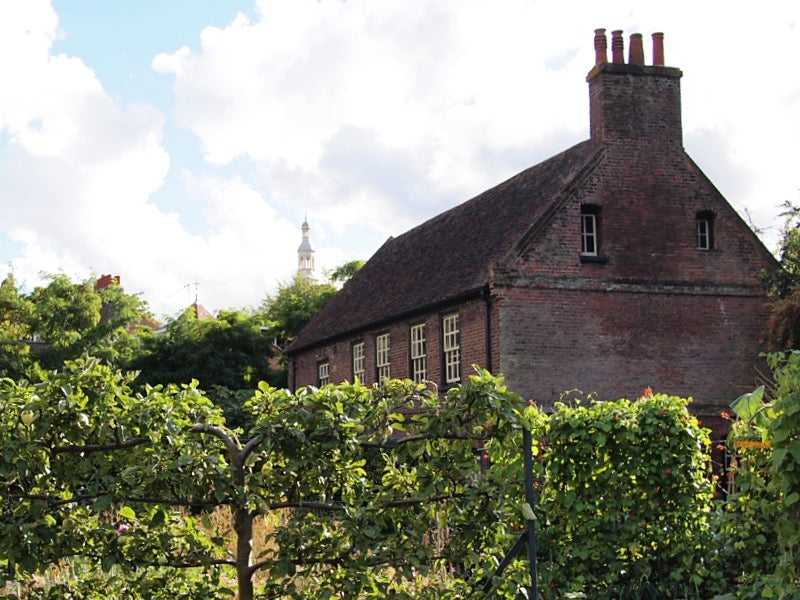 Fenton House is owned by the National Trust and is a 17th-century merchant's house with walled garden in Hampstead, London. It's a lovely place to sit in the garden on a summer's afternoon.