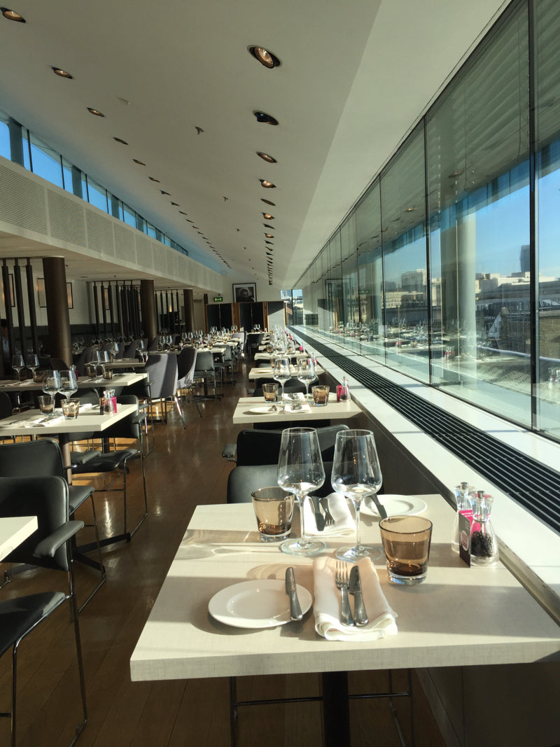 The Portrait Restaurant at the National Portrait Gallery has excellent food and the views over rooftops to Trafalgar Square, down Whitehall and on to Big Ben are breathtaking.  Visit for a special celebration on a twinkly evening, or for lunch on a very sunny day. Ask for a table by the window, it's wonderful.
