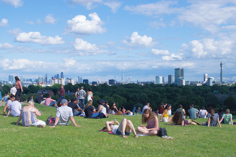 One of the best views of London is from the top of Primrose Hill. The perfect place for a picnic on a hot day.