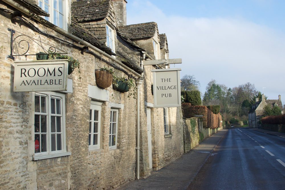 The Village Pub in Barnsley in the Cotswolds is a perfect place to stay if you need to escape London for night or two - it is a mere hop, skip and jump down the M40/A40 and you can be there within an hour and a half of leaving central London, traffic willing.
