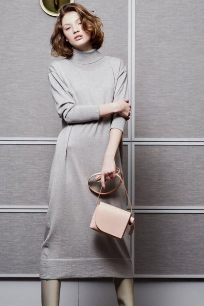 MAXI ROLL-NECK DRESS