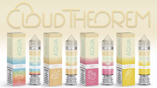 Marina Vape Eliquid AQUA Cream Cyclone Vortex Lush and Surge
