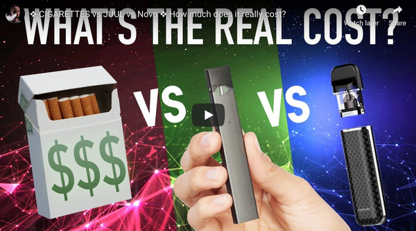 CIGARETTES vs JUUL vs NOVO ❖ How much does it really cost?