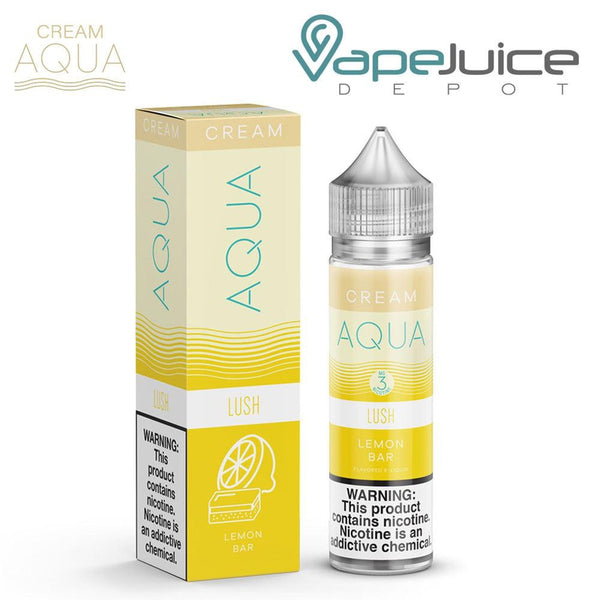 AQUA Cream LUSH Lemon Bar eLiquid 60ml - VapeJuiceDepot