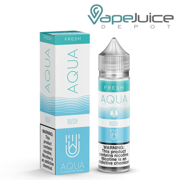 AQUA Fresh RUSH Blue Razz eLiquid 60ml - FREE Shipping