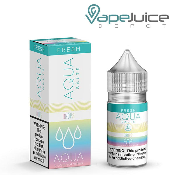 AQUA Salts Fresh DROPS eLiquid 30ml- VapeJuiceDepot