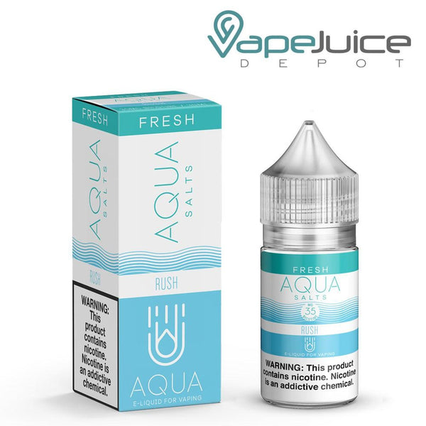 AQUA Salts Fresh RUSH BlueRazz eLiquid 30ml- VapeJuiceDepot