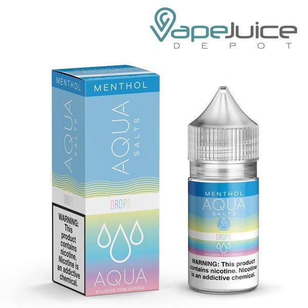 Aqua Salts Menthol Drops eLiquid 30ml ❄️- FREE Shipping
