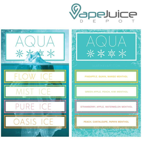 AQUA Ice ❄️ Pure e-Liquid by Marina Vape 60ml - VapeJuiceDepot