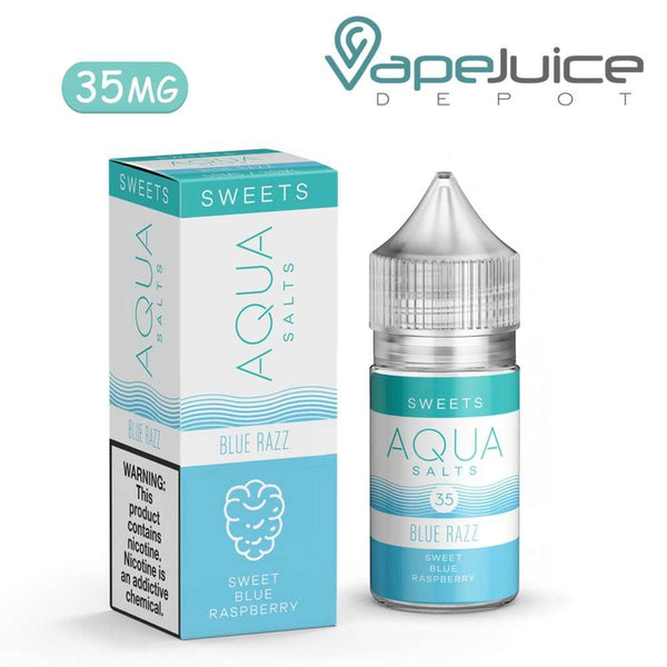 AQUA Salts RUSH BLUE Razz 30ml - VapeJuiceDepot