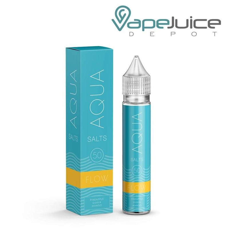 AQUA Salts FLOW Nicotine Salt e-Liquid 30ml - VapeJuiceDepot