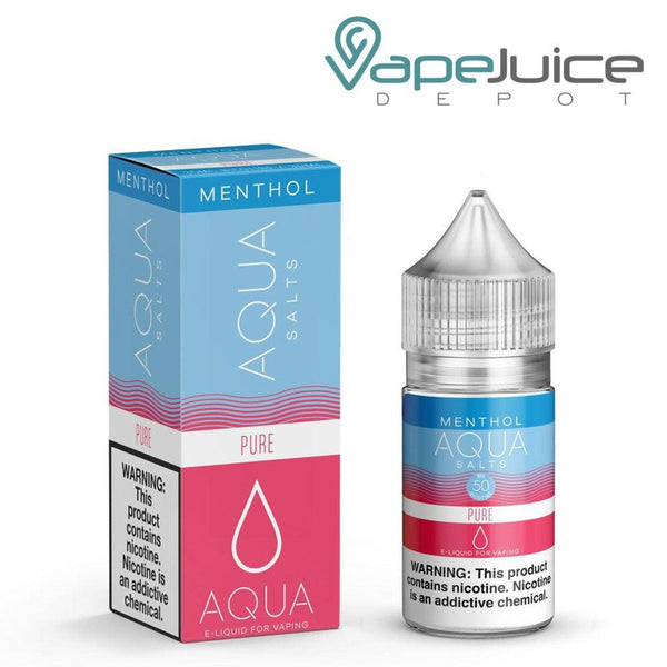 Aqua Salts Pure Menthol eLiquid 30ml ❄️- Vape Juice Depot