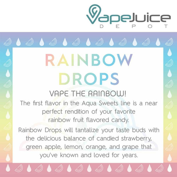 AQUA Rainbow Drops e-Liquid by Marina Vape 60ml - VapeJuiceDepot