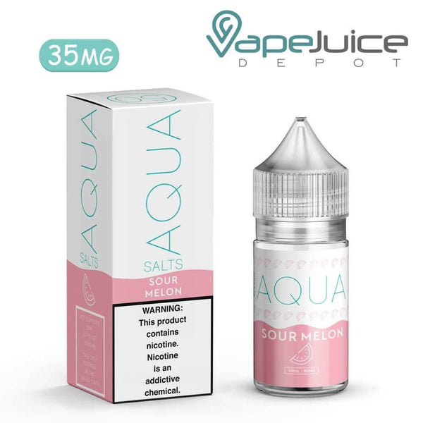 AQUA Salts Fresh SWELL Sour Melon eLiquid 30ml- VapeJuiceDepot