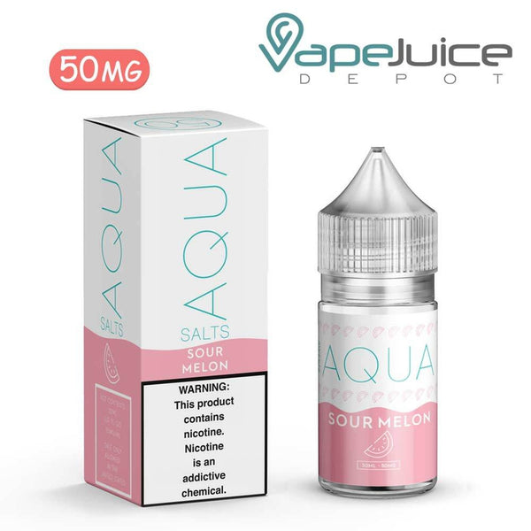 AQUA Salts Sour Melon Nicotine Salt eLiquid 30ml - VapeJuiceDepot