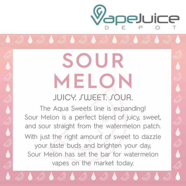 AQUA | Sour Melon eLiquid 60ml - VapeJuiceDepot