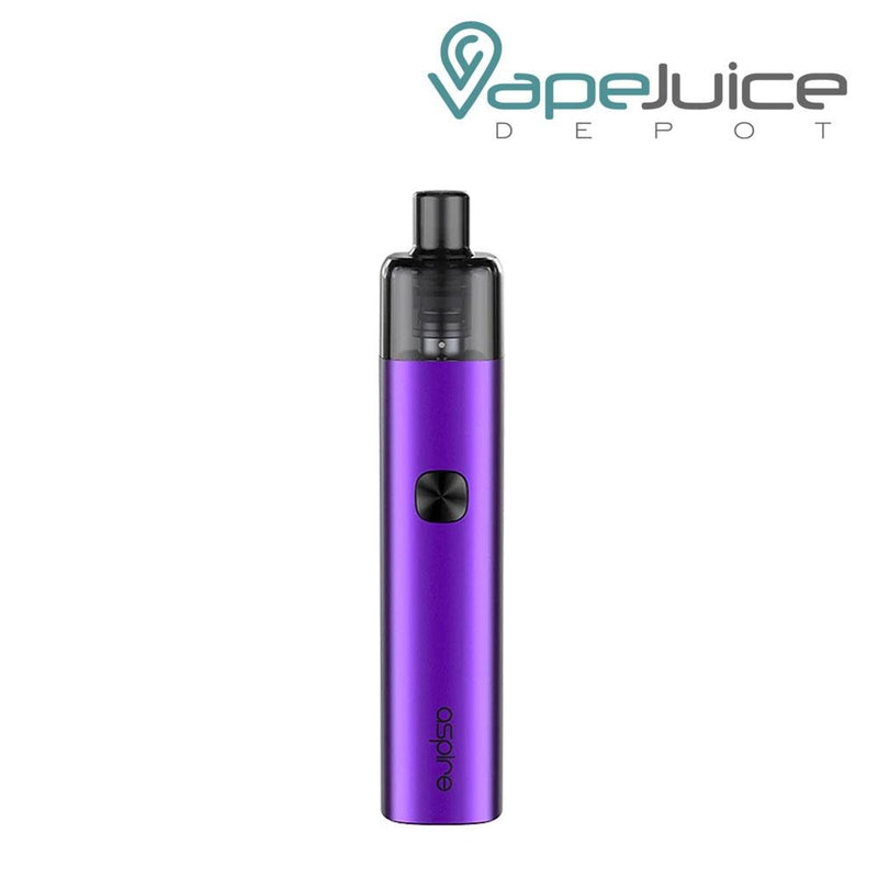 Amethyst Purple AVP-CUBE Pod Kits with a firing button and Aspire logo beneath - Vape Juice Depot