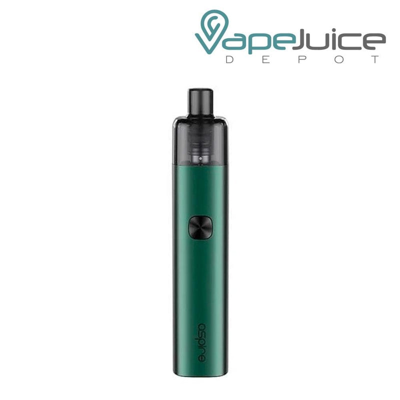 Hunter Green AVP-CUBE Pod Kits with a firing button and Aspire logo beneath - Vape Juice Depot