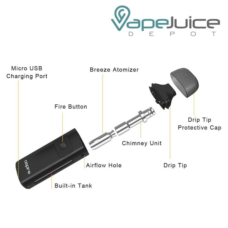 Aspire Breeze Starter Kit | Open Pod System - VapeJuiceDepot