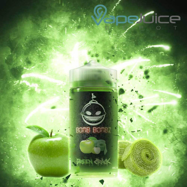 Bomb Bombz Green Crack e-Liquid 100ml - VapeJuiceDepot