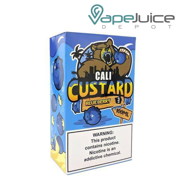 Cali Custard Blueberry eLiquid 100ml - VapeJuiceDepot