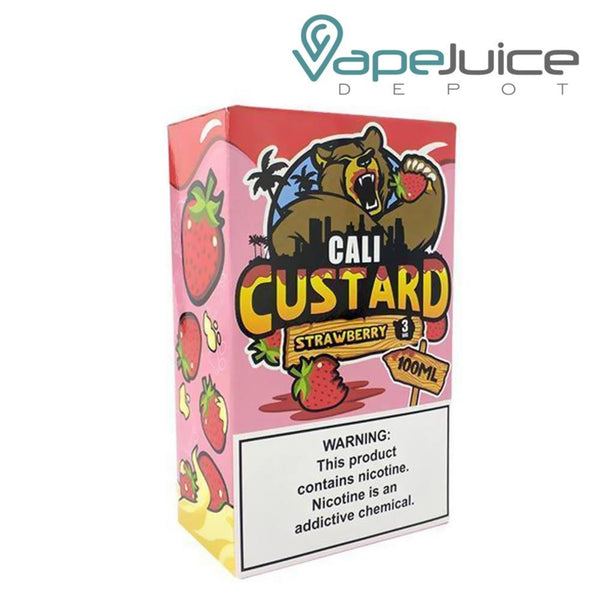 Cali Custard Strawberry eLiquid 100ml - VapeJuiceDepot
