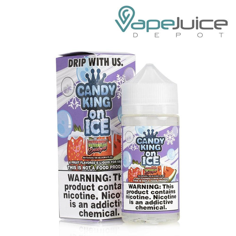 Candy King On Ice Strawberry Watermelon BubbleGum 100ml - Vape Juice Depot