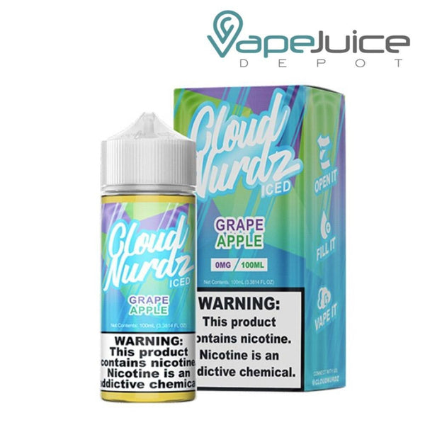 Cloud Nurdz ICED Grape Apple - Vape Juice Depot