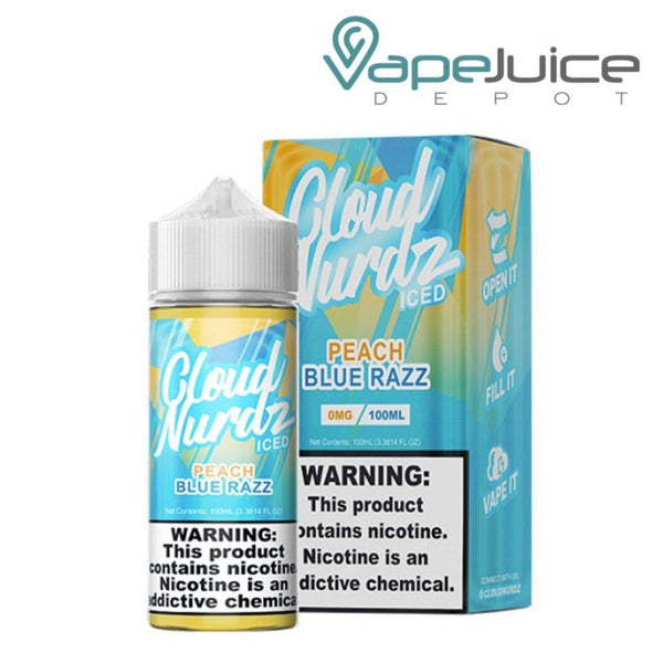 Cloud Nurdz Peach Blue Razz Iced eLiquid - Vape Juice Depot