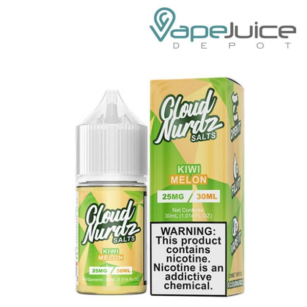 A box of Cloud Nurdz Synthetic Salts Kiwi Melon and a 30ml gorilla bottle next to it - Vape Juice Depot