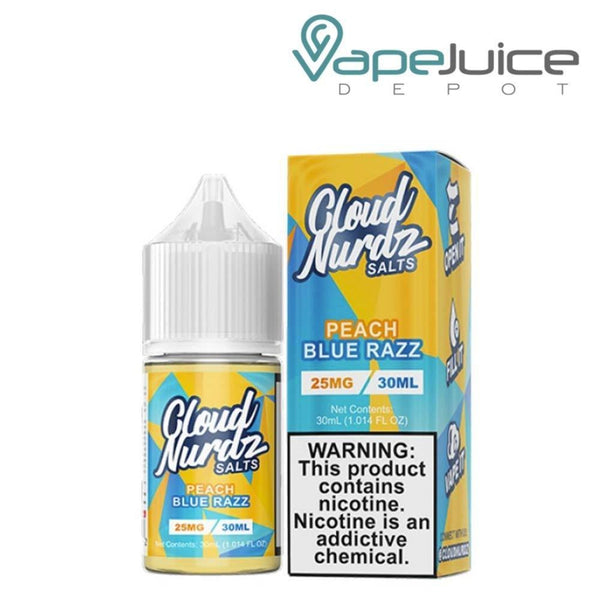 Cloud Nurdz Salts Peach Blue Razz - Vape Juice Depot