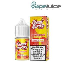 Cloud Nurdz Salts Strawberry Lemon Salts 30ml - Vape Juice Depot