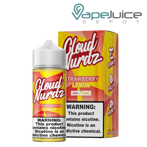 Cloud Nurdz Strawberry Lemon e-Liquid - Vape Juice Depot