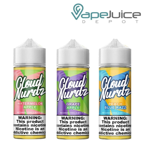Cloud Nurdz e-Liquid BUNDLE 3x 100ml - Vape Juice Depot