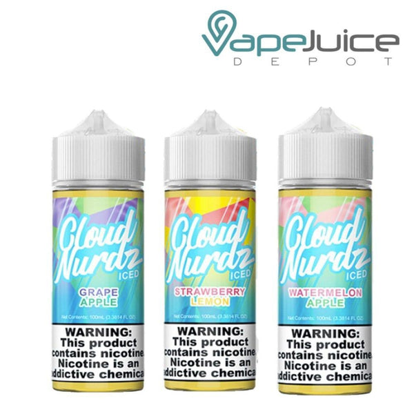 Cloud Nurdz ICED e-Liquid BUNDLE 3x 100ml - Vape Juice Depot
